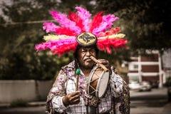 Músico tradicional mexicano que se realiza en la calle Imagen de archivo