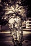 Músico tradicional mexicano que se realiza en la calle fotos de archivo libres de regalías