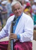 Músico ucraniano con bandura Foto de archivo libre de regalías