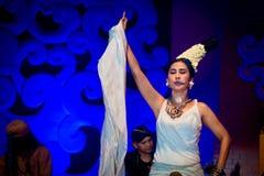 Músico y cantante tradicionales de sexo femenino. Fotos de archivo libres de regalías