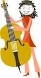 Músico y música Imagen de archivo libre de regalías