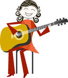Músico y música Fotos de archivo libres de regalías