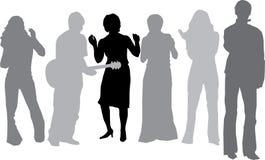 Músico y su baile de los amigos (vector) Fotografía de archivo libre de regalías