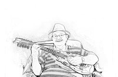 Músico Yomo Toro Imágenes de archivo libres de regalías