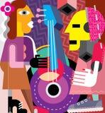músicos ilustração stock