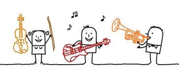 músicos Imagens de Stock