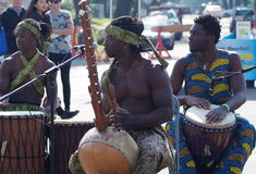 Músicos africanos Fotos de archivo libres de regalías