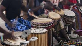 Músicos africanos Imagens de Stock