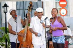 Músicos cubanos, Havana Fotografia de Stock