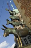 Músicos da cidade em Brema Foto de Stock Royalty Free