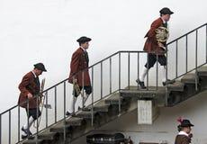 Músicos da faixa Unlingen Fotos de Stock Royalty Free