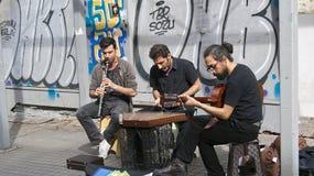 Músicos da rua Imagens de Stock