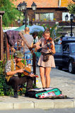 Músicos da rua Fotos de Stock