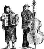 Músicos da rua Fotografia de Stock Royalty Free