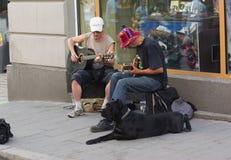 Músicos da rua Imagens de Stock Royalty Free