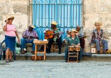 Músicos da rua em Havana Foto de Stock Royalty Free