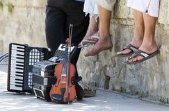 Músicos das ruas Fotos de Stock