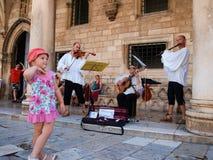 Músicos de Dubrovnik Imágenes de archivo libres de regalías