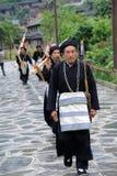 Músicos de Hmong de Guizhou com lusheng Fotografia de Stock