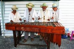 Músicos de Honduras Fotografía de archivo libre de regalías