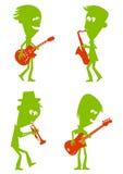 Músicos de jazz Ilustração Royalty Free