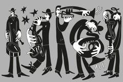 Músicos de jazz Fotografía de archivo