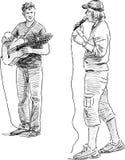 Músicos de la calle Imagen de archivo libre de regalías