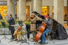 Músicos de la calle de Munich fotos de archivo libres de regalías