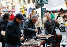 Músicos de la calle en Bruselas Imagen de archivo