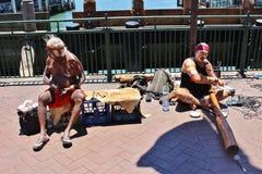 Músicos de la calle en Sydney imagen de archivo
