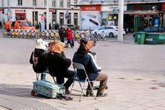 Músicos de la calle en Viena, Austria imagen de archivo