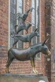 Músicos de la ciudad de Bremen imagen de archivo