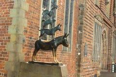Músicos de la ciudad de Bremen Imagen de archivo libre de regalías