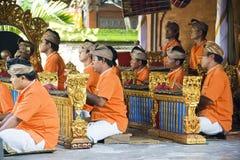 Músicos de la danza de Barong, Bali, Indonesia Fotos de archivo libres de regalías