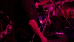 Músicos de la roca almacen de metraje de vídeo