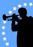 Músicos de la trompeta Fotos de archivo