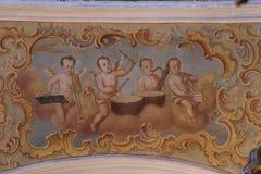 Músicos de los ángeles foto de archivo