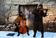 Músicos de los mendigos Fotos de archivo libres de regalías