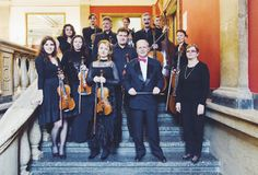 Músicos de Orfeo de la orquesta de cámara Foto de archivo