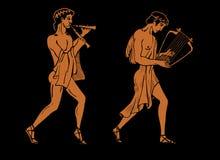 Músicos del griego clásico Imagen de archivo