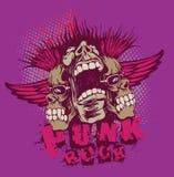 Músicos do punk ilustração stock