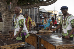 Músicos en Cape Town fotografía de archivo