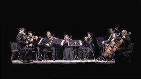Músicos en concierto Foto de archivo