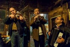 Músicos en Grecia Foto de archivo