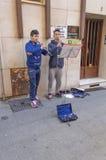 Músicos en la calle Fotografía de archivo libre de regalías