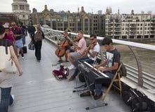 Músicos en Londres Imagen de archivo libre de regalías