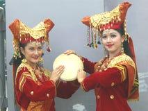 Músicos indonesios tradicionales fotos de archivo libres de regalías