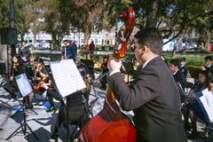 Músicos jovenes Foto de archivo libre de regalías