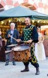Músicos medievais na celebração de Almossassa Imagens de Stock