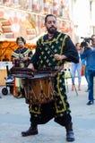 Músicos medievais na celebração de Almossassa Fotos de Stock
